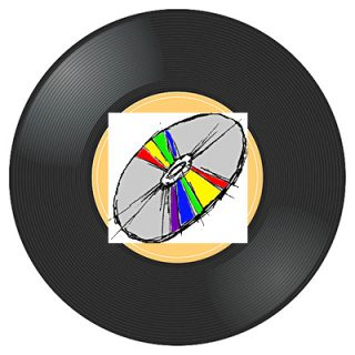 analog record and CD